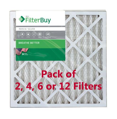 MERV 8 Pleated HVAC AC Furnace Air Filter FilterBuy 20x20x2 AFB Silver