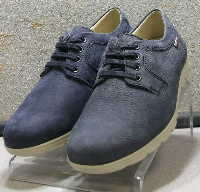 KILIAN NAVY MMSP75 Men's shoes Size 8 () Suede Lace Up Mephisto