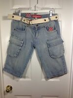 Fishbone Women's Jean Shorts With Belt Included Size 31 With Tags