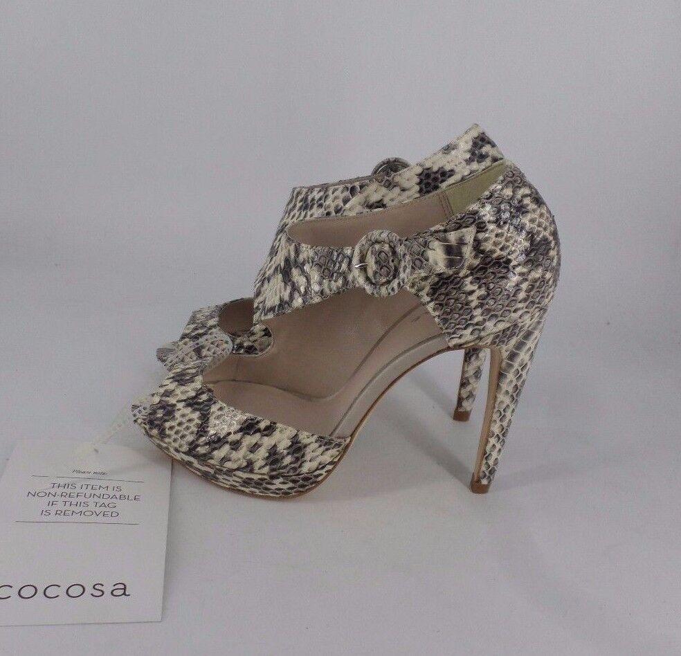 Bourne Womens Natural Snake Adele High Heels Shoes Size EU 36 NH01 03