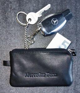 Schluesselmappe-Etui-Schluesselring-Ledertasche-Mercedes-Benz-Karabiner