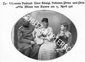 Prinz und Prinzessin Alfons von Bayern - Silberne Hochzeit - Bayern - 1916