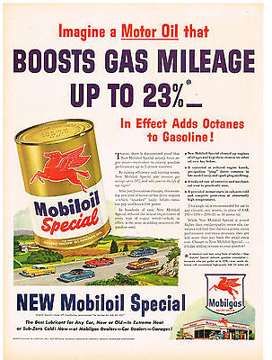 Obliging Vintage 1940 Magazine Ad Mobiloil Special Boosts Gas Mileage Beer Brewers U.s