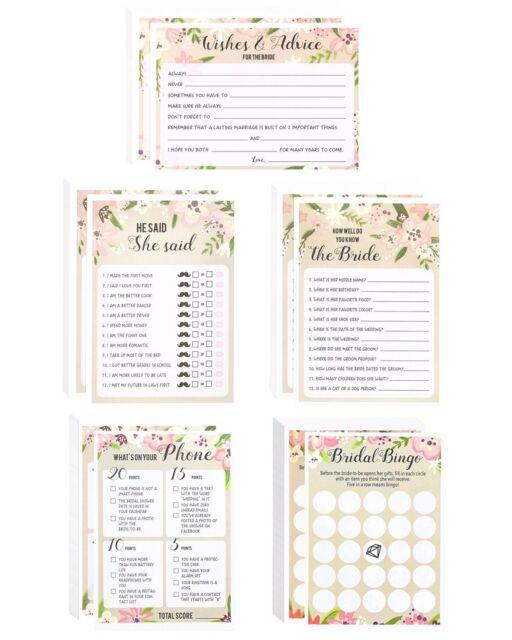 set of 5 pink vintage floral flower themed bridal shower and wedding anniversary