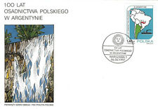 Poland FDC 1997 100th anniversary of Polish settlement in Argentina