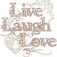 OESD Embroidery Machine Designs CD LIVE LAUGH LOVE  ART PES PCS DST HUS JEF SEW