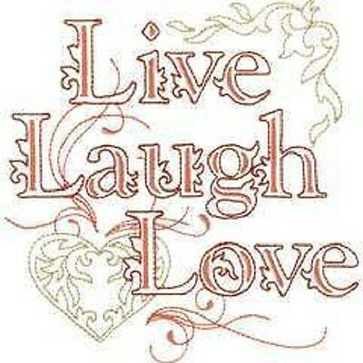 Brother/Babylock Embroidery Machine Memory Card LIVE LAUGH LOVE