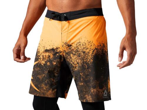 Men/'s Reebok Splatter Print Board Shorts Sports Training Wicking Workout