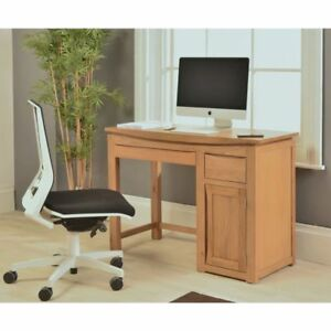Astounding Details About Crescent Solid Oak Office Furniture Small Computer Desk Home Interior And Landscaping Transignezvosmurscom