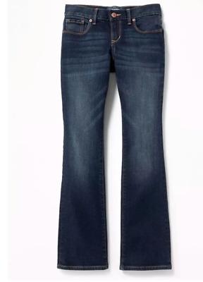 Old Navy Girl Dark Wash Boot Cut Stretch Jeans 6 10 14 Slim 6 Slim 10 Plus New