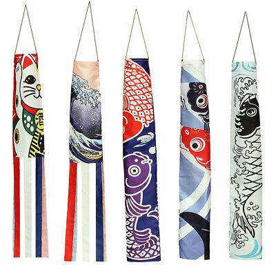 HN Japanese Classic Nobori Koinobori Carp Streamer Windsock Fish Flag Kite Deco