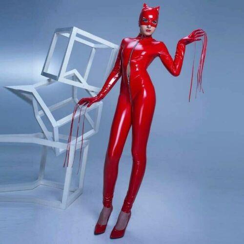 Cosplay Body Tuta Aderente Elasticizzata Donna Effetto Bagnato Similpelle w4x0q8qt