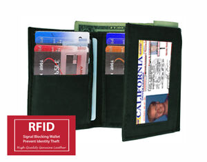 RFID-BLOCKING-MENS-LEATHER-THIN-TRIFOLD-WALLET-ID-WINDOW-12-CREDIT-CARD-HOLDER
