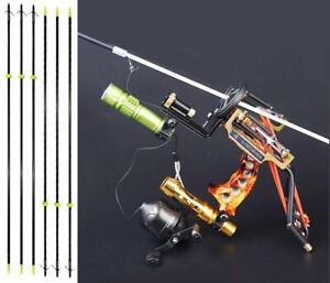 Angeln-Slingshot-Kit-Bogenschiessen-Slingbow-Wrist-Brace-amp-6pcs-Jagd-Fischen-Pfeile