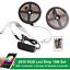 RGB 5050 LED Strip light SMD 44 WATERPROOF Key Remote 12V US PLUG Power Full Kit
