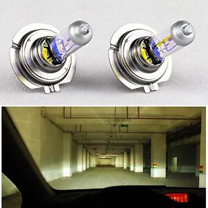 2-x-H7-55W-12V-Xenon-Halogen-Front-Headlight-Light-Bulbs-Lamp-Super-Bright-LEDs