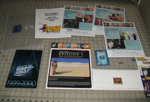1999 20th CENTURY FOX (Fox Television) Promotional Packet - Calendar, Star Wars
