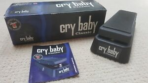 mint dunlop cry baby classic wah pedal gcb95f fasel guitar gcb 95f true bypass 710137023048 ebay. Black Bedroom Furniture Sets. Home Design Ideas