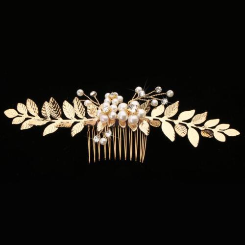 Bridal Hair Comb Pearls Rhinestone Bridesmaid Pin Clips Wedding Hair Accessories