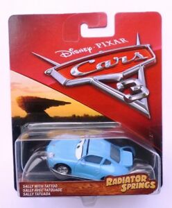 Disney Pixar Cars 3 Diecast Sally With Tattoo Rare Ebay