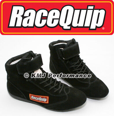 RaceQuip 30300110 Size 11 Mid-Top SFI Rated Racing Driving Shoes Black Suede