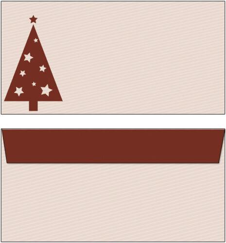 20 Briefumschläge Motiv rot //brauner Weihnachtsbaum DL oF Weihnachten Christmas