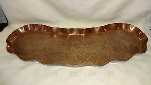 Arts & Crafts Movement Intellective Stunning Arts & Crafts Kidney Shaped Copper Tray Henry Loveridge Rd 231620.1894