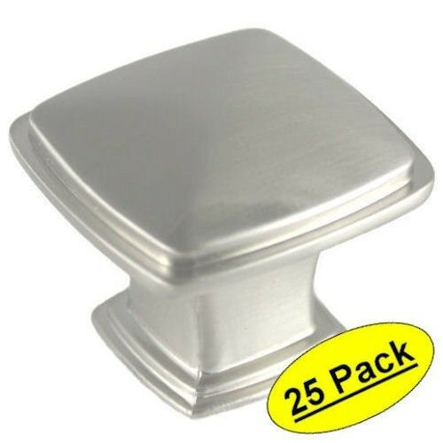 *pack Of 25* Cosmas Cabinet Hardware Satin Nickel Square Knobs 4391sn   |  EBay