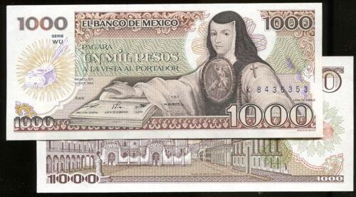 1000 PESO. UNC MEXICO p 81 1984 .10.30 P81