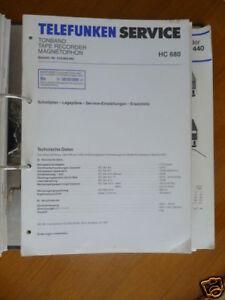 Details about Service Manual Telefunken HC 680 Tape Deck, Original
