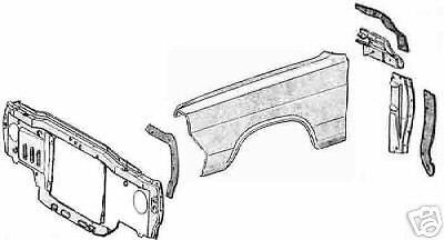 1966-1967 MERCURY COMET SPLASH SHIELD KIT 6 PIECES