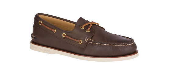 Sperry gold Cup A O 2 Eye Brown Nubuck Boat shoes Men's sizes 7-15 NEW