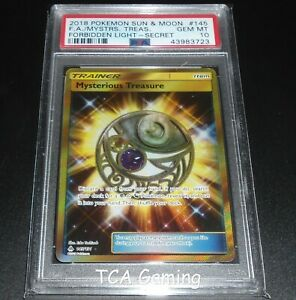 PSA 10 GEM MINT Mysterious Treasure 145//131 Forbidden Light SECRET Pokemon Card
