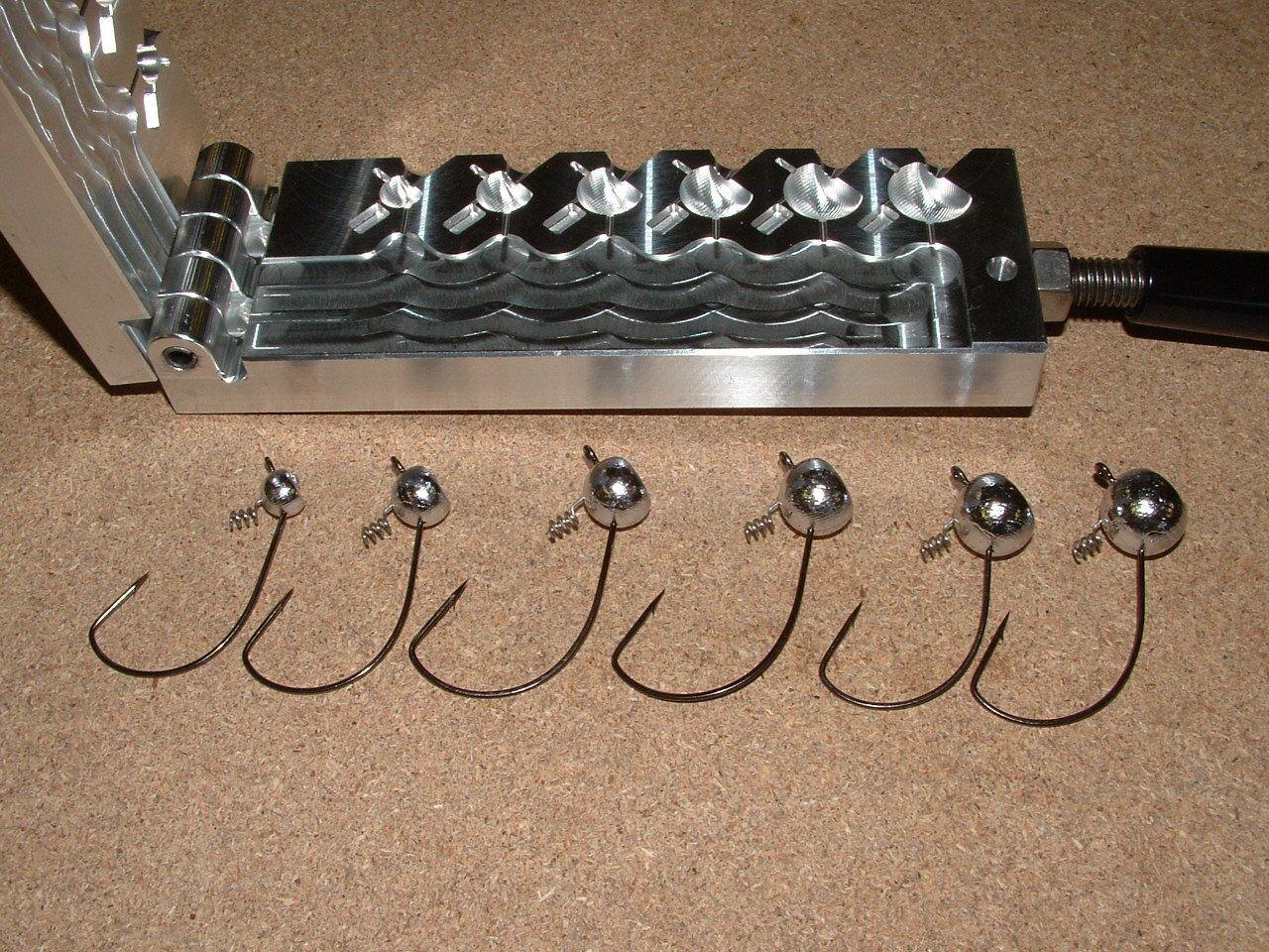 Cerradura de tornillo de bola levantado Jig De Agua Dulce Molde 1 8 - 3 4oz 38109 CNC Aluminio