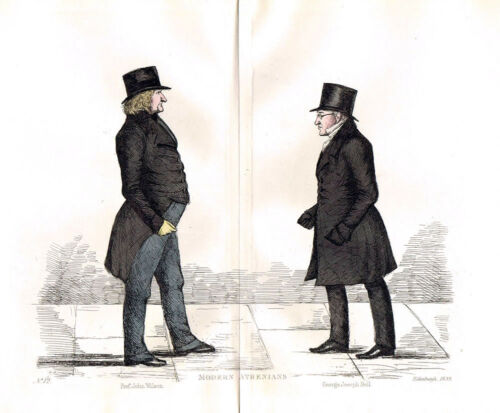 EDINBURGH John Wilson /& George Joseph Bell Caricature Print 1882 by Crombie