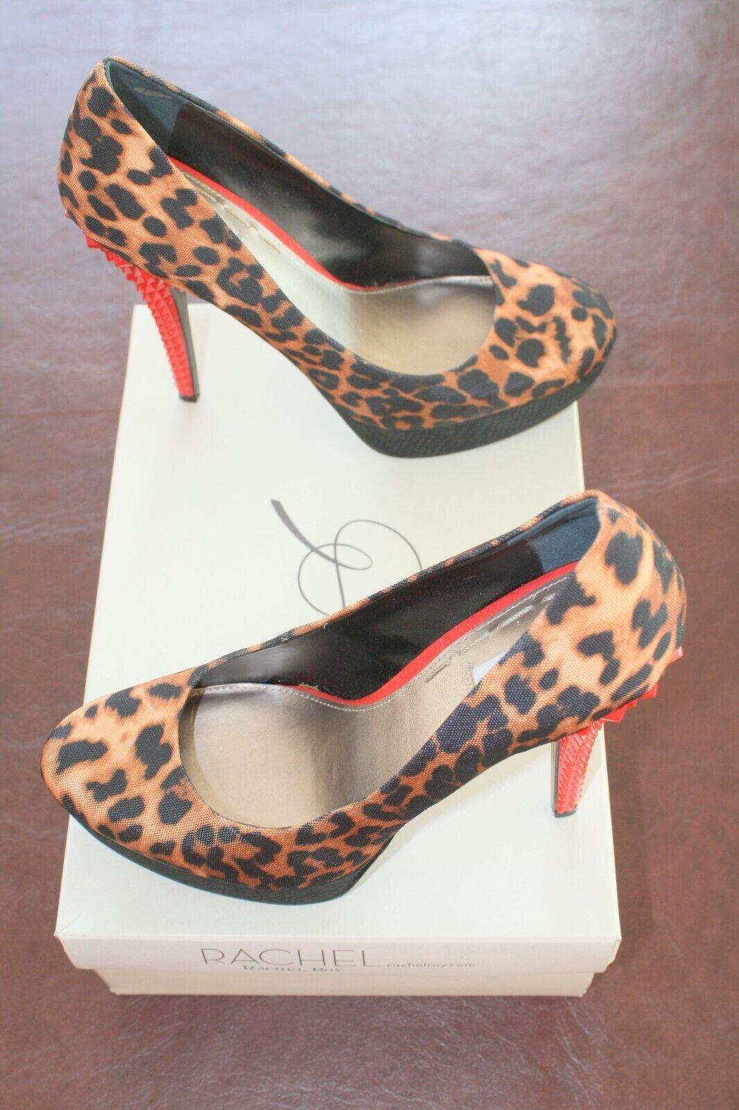 Rachel Animal Stampa rosso  Stiletto Heel Ladies scarpe di Rachel Roy 7.5 M  Sconto del 70%