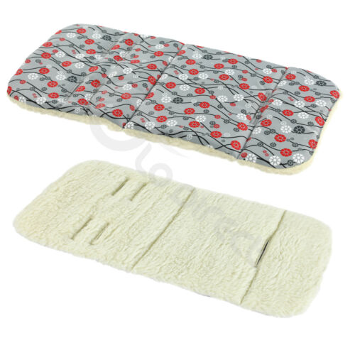 NATURAL Wool Liner Matress Pad for Baby Pram Pushchair Stroller Buggy Cover 5pt