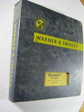 Warner And Swasey Gradall G 660 Operators Service Parts Manual