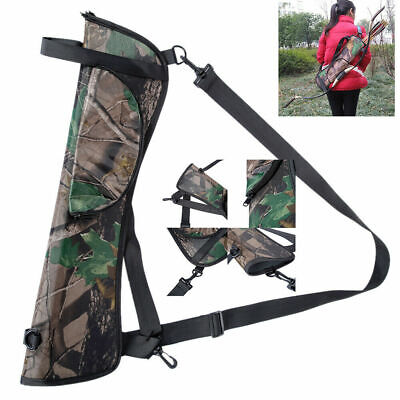 1 Archery Arrow Quiver Back Waist Side Black Bag Bow Holder Pouch Target Hunting