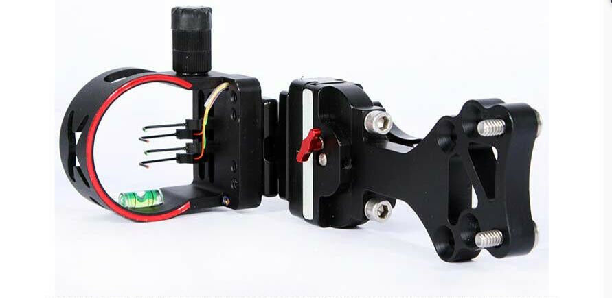 4 Pin Compound bow optic bow sight .019 Micro Adjust for hunting and archery