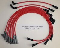 Chevy Corvette 1992-1996 5.7l 350 Lt1 Lt4 Red Performance Spark Plug Wires Usa