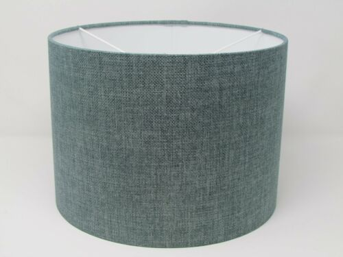 ** SALE **  40 cm Duck Egg Blue Textured Drum Lampshade Light Shade