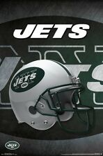 NEW YORK JETS - HELMET LOGO POSTER - 22x34 NFL FOOTBALL 15443