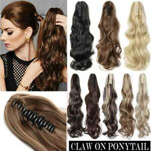 On Clearance 12 26 Short Long Claw Clip In Ponytail As Natural Hair Extensions Ebay