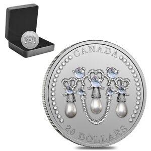 2021 Canada 1 oz Queen Elizabeth II Lover's Knot Tiara Silver Coin .9999 Fine