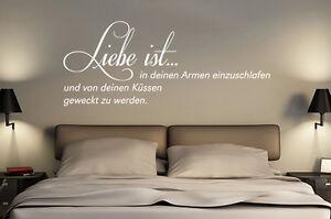 Wandtattoo Sprüche Liebe Ist In Deinen Armen Einzuschlafen Und Von