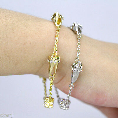 4pcs Dentist Dental Hygienist Diamond Molar Tooth Charm Bracelet Hand Chain Gift
