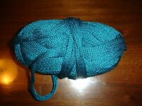 Yarn Bee Chrysalis Ruffle Yarn 2.6 Oz 1 Ball No Wrapper Mexican Blue Teal