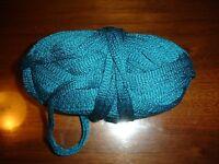 Yarn Bee Chrysalis Ruffle Yarn 3.2 Oz 1 Ball No Wrapper Mexican Blue Teal
