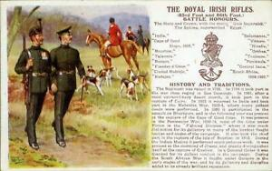 PRINTED-MILITARY-POSTCARD-OF-THE-ROYAL-IRISH-RIFLES-BY-GALE-amp-POLDEN